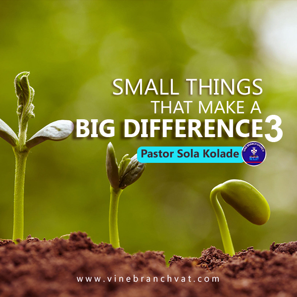 SMALL THINGS THAT MAKE A BIG DIFFERENCE 3